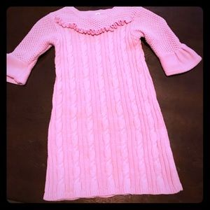 Other - Pink girl knitted sweater dress